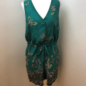 Elevenses Green Papillon Butterfly  romper. Size S